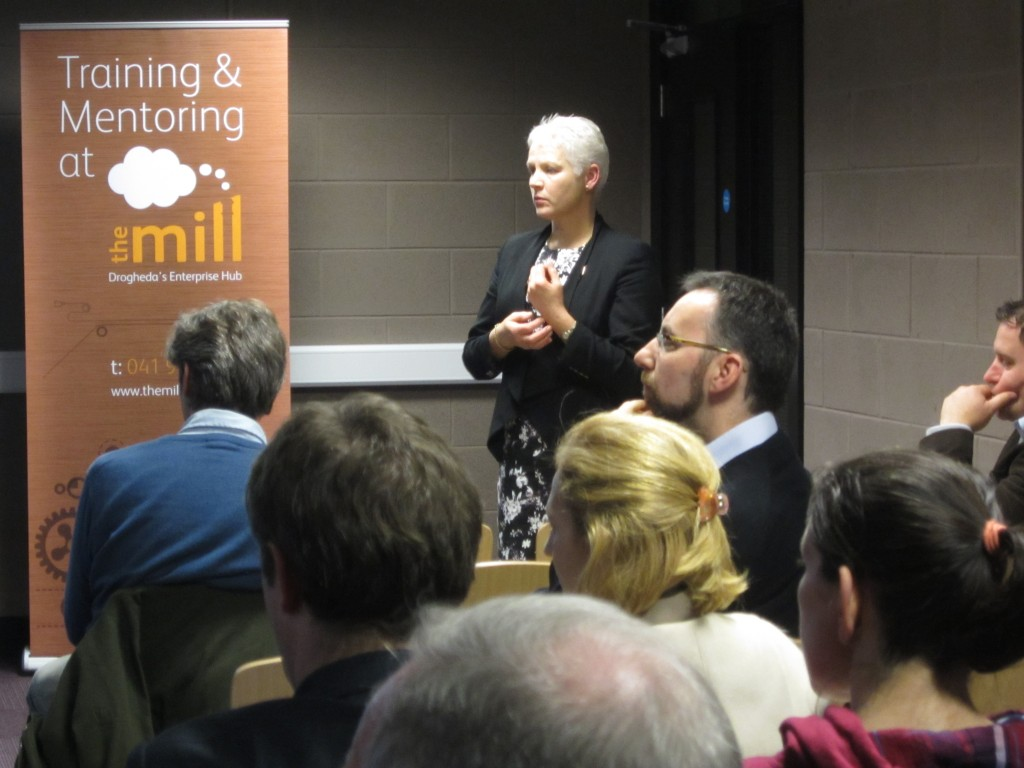 Chairperson Bronagh Conlon and the audience deeply engaged during the seminar