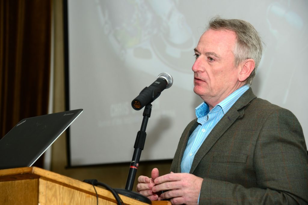 Chris Skinner, the Keynote speaker at the M1 Payments Corridor conference at the City North Hotel. Photo: Andy Spearman.